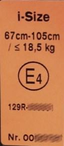 Prüfetikett ECE R129