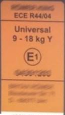 Prüfetikett ECE R44