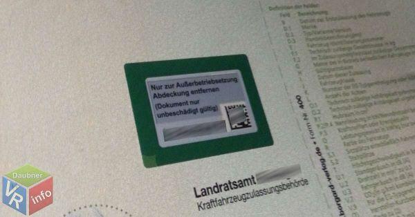 Online Abmeldung - Fahrzeugschein
