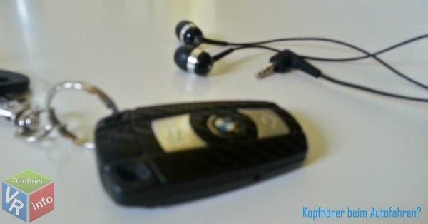 Symbolbild Auto Kopfhörer