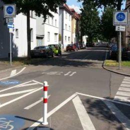 Einfahrt Fahrradstraße