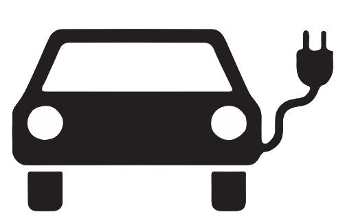 Sinnbild Elektrofahrzeug
