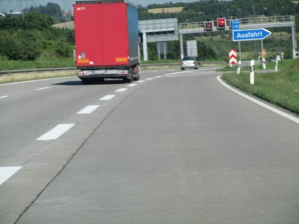 Ausfädelungsstreifen Autobahn