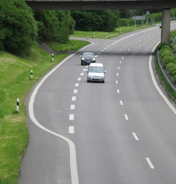 Einfädelungsstreifen Autobahn